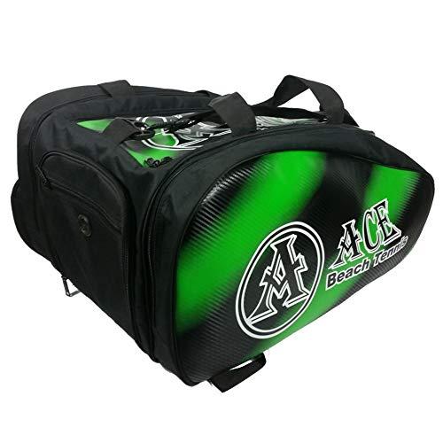 ACE Beach Tennis Borsa Bag Borsone Zaino Portaracchette Grande Green