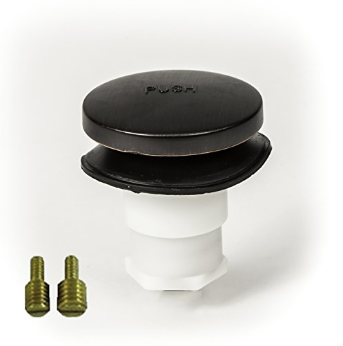 PF WaterWorks PF0935-ORB Universal Touch (Tip Toe or Foot Actuated) Bathtub/Bath Tub Drain Stopper includes 3/8' and 5/16' Fittings, No Hair Catcher, Oil Rubbed Bronze