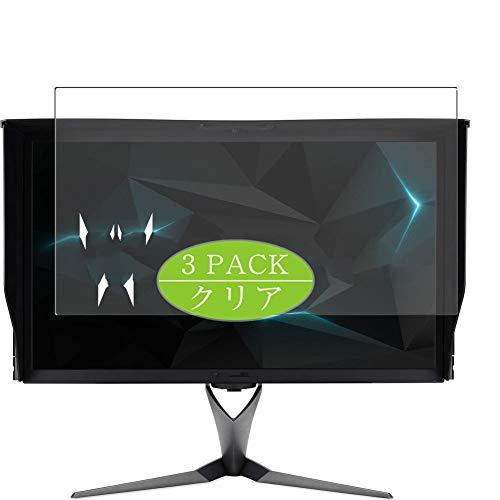 """Vaxson 3 pellicole protettive compatibili con Acer Predator X27 Bmiphzx 27"""" Display Monitor, protezione dello schermo senza bolle [non in vetro temperato]"""