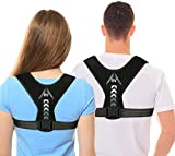 Posture Corrector for Men and Women, 2021 Designed Updated Adjustable Upper Back Brace for Clavicle Support and Providing Pain Relief from Neck, Back and Shoulder(Universal) (style-1)