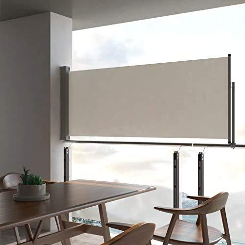 UnfadeMemory Toldo Lateral Retráctil para Balcón Terraza o Patio,Protección Solar,Protección Solar,Color Opcional,Dimensiones Opcional (100x300cm, Crema)