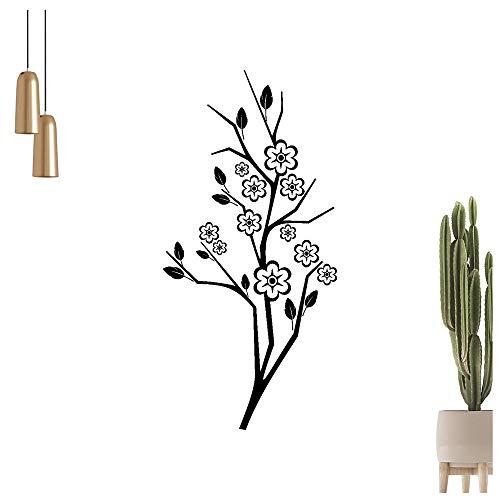 Adhesivo decorativo para pared, diseño de árbol de cerezo, flores y ramas, 6 tamaños