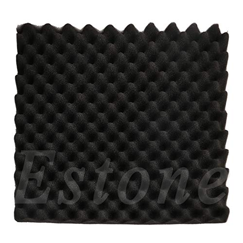 Paneles de espuma insonorizantes para absorción de sonido acústico, esponja de aislamiento Pyramid Studio de espuma de 50 x 50 x 3 cm, Sixsons