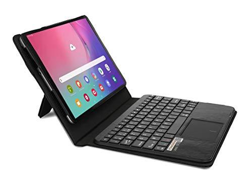 MQ pour Galaxy Tab A 10.1 (2019) - Etui avec clavier français (AZERTY) pour Samsung Galaxy Tab A 10.1 (2019) LTE SM-T515, WiFi T510 | Housse avec clavier bluetooth, touchpad (pavé tactile) intégré
