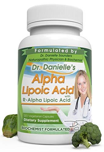 Alpha-Lipoic Acid by Dr. Danielle, Neuropathy Support, Non-GMO, Gluten-Free, Vegan, Soy-Free, Promotes Healthy Blood Sugar, Alpha R Lipoic Acid R-ALA, R-ALA, 120 Veggie Caps