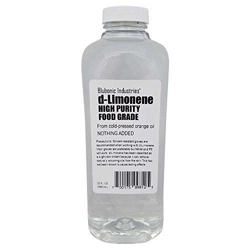 Blubonic d-Limonene HP (Highest Purity) Food Grade Orange Oil, Solvent, Medicinal, Cleaner, Degreaser, dLimonene (32 fl oz)