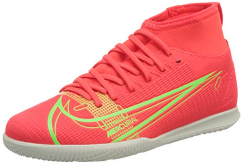 Nike JR Superfly 8 Club IC, Zapatillas de ftbol, BRT Crimson Mtlc Silver Indigo Burst White Rage Green, 37.5 EU