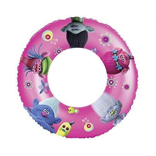 Lively Moments Schwimmring / Schwimmreifen mit den Bildern von DreamWorks Trolls Poppy, Branch, Cooper, Guy Diamond und Biggie Durchmesser ca. 50 cm in pink - lila