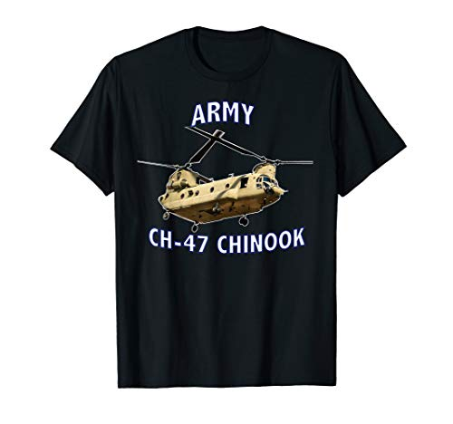 ARMY CH-47 CHINOOK HELICOPTER T-SHIRT