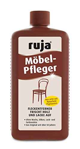 ruja Möbel-Pfleger 1 Liter   Möbelpolitur, Holzpflegeöl und Fleckentferner   für Möbel, Tische, Stühle, Türen Parkett   Ohne Wachs-, Silikon-, Lack- und Farbzusätze