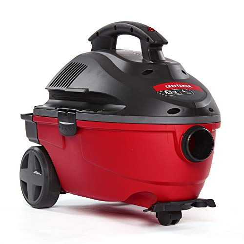 CRAFTSMAN 17612 4 Gallon 5.0 Peak HP Wet/Dry Vac,...