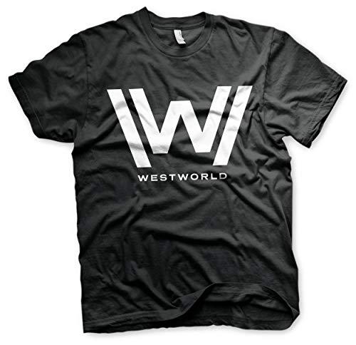Westworld Licenza Ufficiale Logo Maglietta da Uomo (Nera), Large