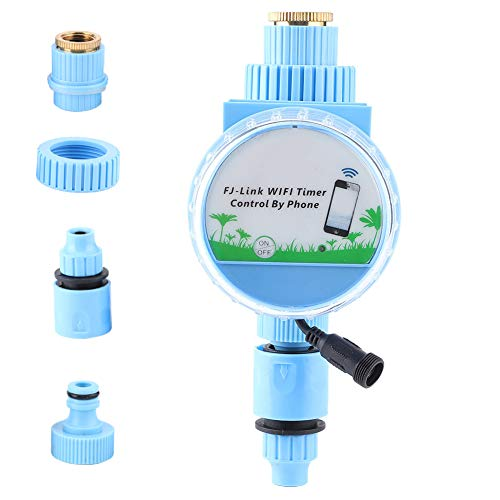eecoo WiFi Programmatore di Irrigazione, Smartphone Timer Irrigazione Automatico, Controllo App, Regolatore per irrigazione Intelligente controllore, Impermeabile IP68 per Balcone sul Giardino