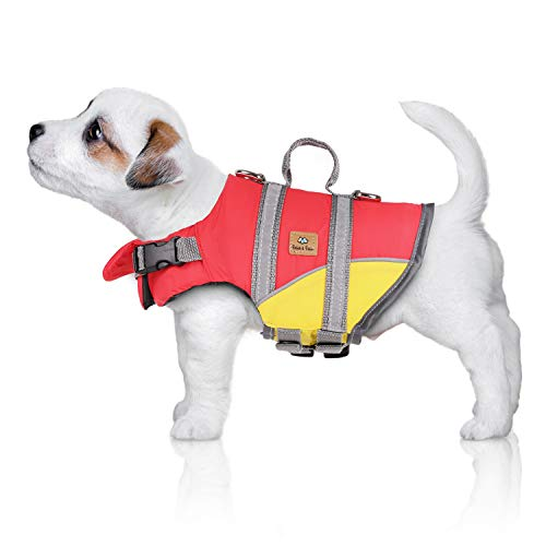 Bella & Balu Schwimmweste für Hunde – Reflektierende Hundeschwimmweste für maximale Sicherheit im und am Wasser beim Schwimmen, Segeln, Surfen, SUP, Kayak & Kanu Fahren und bei Bootsausflügen (Gr. XS)