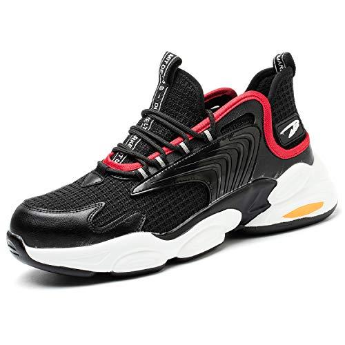 JUDBF Zapatos de Seguridad s3 Hombre Mujer Zapatillas de Trabajo con Punta de Acero Antideslizantes Ligero Transpirable Calzado de Industria y Construcción 783Yellow/44