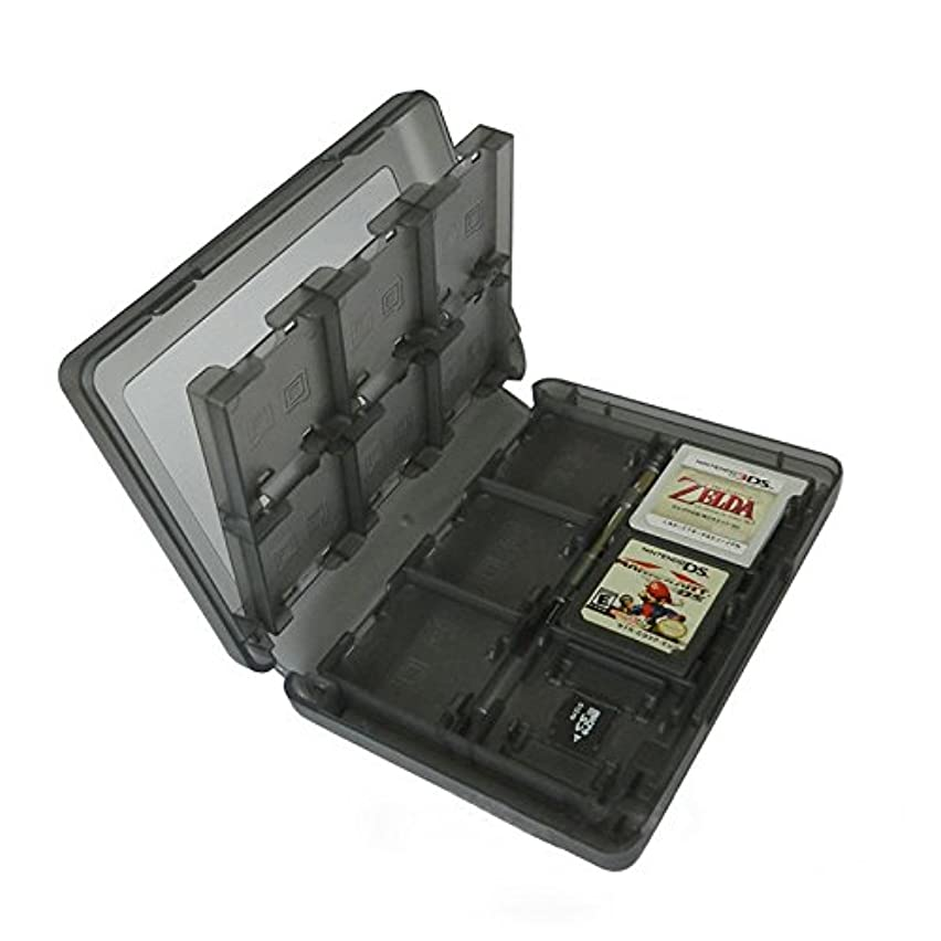 elegantstunning 24 in 1 Game SD Card Holder Case Cartridge Storage Box for Nintendo 3DS