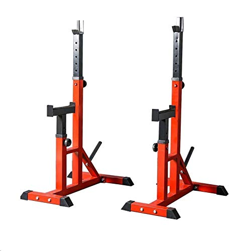 Adjustable Squat Rack, Pull-Lift Strength Training Fitness Barbell, Free Bench Press, Multifunctional Home Gym