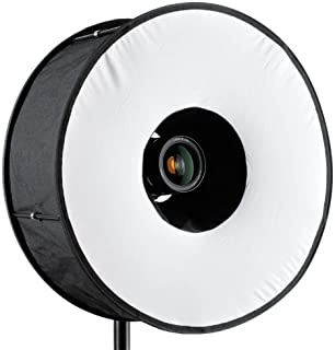 RoundFlash Universal Collapsible Magnetic Ring Flash Diffuser 45cm for Macro & Portrait Shooting …