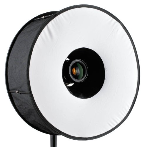 RoundFlash Universal Collapsible Magnetic Ring Flash Diffuser 45cm for Macro &...