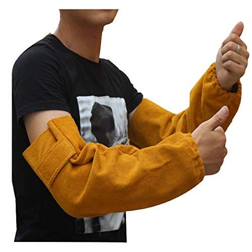 Cuero Mangas de brazo de soldadura resistentes al calor Mang
