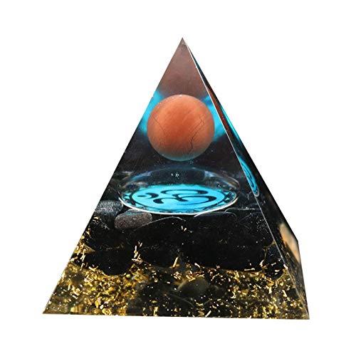 Phrat Orgone piramide in ametista, piramide positiva, energia naturale, meditazione, yoga, guarigione, decorazione per la casa