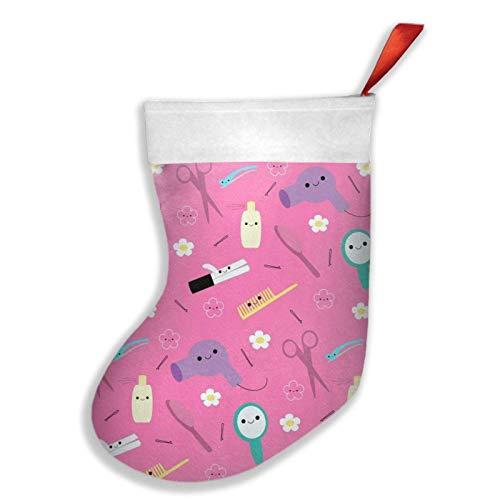 Sunny R Rosa Friseur Happy Hair Sock Geschenkdekorationen für Weihnachtsfeier für Familienfeiertagssaison-Party