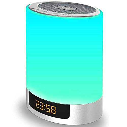 Night Lights Wireless Speaker Poebell Touch Sensor Bedside Lamp Dimmable Warm...