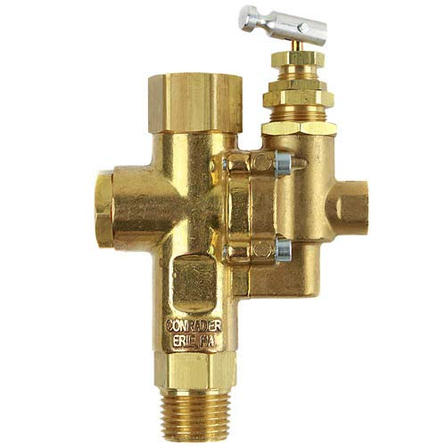 Air Compressor Pilot check valve unloader combination gas discharge 95-125 1/2' FPT TOP INLET X 1/2' MNPT OUTLET FOR GAS COMPRESSORS