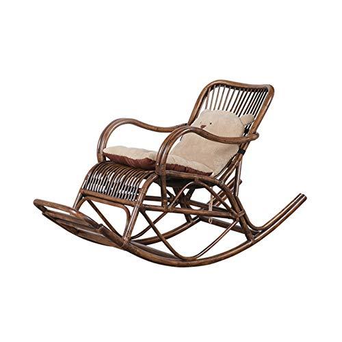 XinQing-Sedia a Dondolo Sedia di Vimini Sedia a Dondolo Sedia reclinabile Home Balcone all'aperto Giardino Sedia Eyerly Easy 125x55x92cm (Color : A)