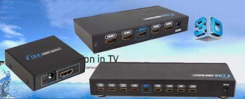 Great Features Of HDMI 4 Port 1x4 Power Splitter Amplifier 3D 1080P Video
