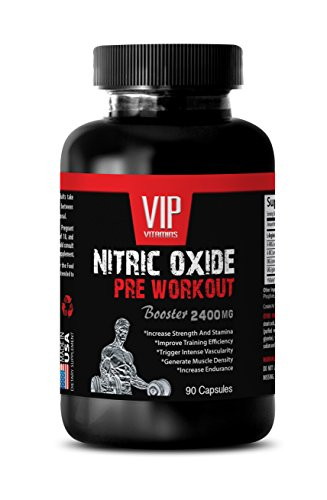 Muscle Building Vitamins Pills Men - Nitric Oxide PRE Workout Booster 2400MG - Best Workout Supplement - Natural and Pure - l arginine for Men - 1 Bottle (90 Capsules)