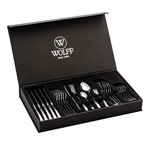 Faqueiro 30pc De Aço Inox C/gift Box Berna Wolff Berna Cromado No Voltagev
