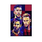 WUSOP Messi Suarez Neymar Poster dekorative Malerei