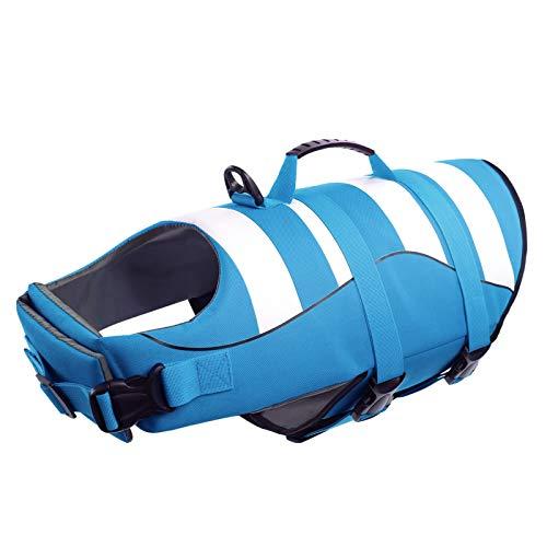 CITÉTOILE Schwimmwesten für Hunde mit Griff, Guter Auftrieb auf See/Pool/See, Verstellbare, Leichte, Atmungsaktive und Bequeme, XL