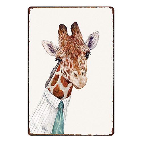 Lorenzo Mr Giraffe Vintage Metal Vintage Metallblechschild Wand Eisen Malerei Plaque Poster Warnschild Cafe Bar Pub Bier Club Dekoration