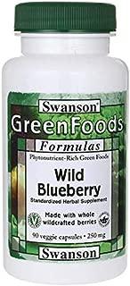 Swanson Wild Blueberry 250 Milligrams 90 Veg Capsules