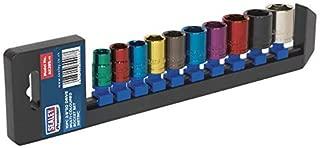 Sealey Multi-Coloured Socket Set 10Pc 3/8