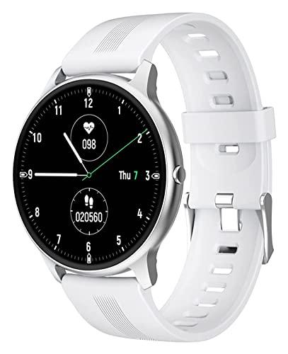 KAIFENGJUBIAN Bluetooth Smart Watch Reloj electrónico Reloj Digital Reloj de Fitness con Reloj con Reloj con Reloj de Fitness con Reloj de Moda Reloj de Contador Smart Watch (Color : White)