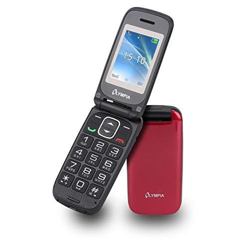 Olympia 2250 Classic Mini II Mobiltelefon Seniorenhandy Notruf (SOS) Taste große Wähltasten mit Hintergrundbeleuchtung