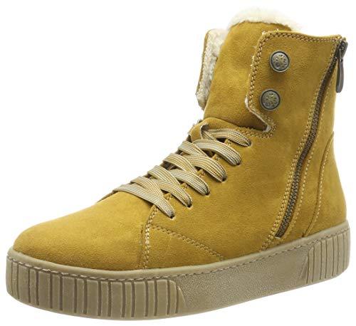 MARCO TOZZI Damen 2-2-26264-23 Hohe Sneaker, Gelb (Mustard 606), 36 EU