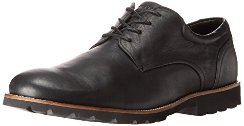 Rockport Men's Colben Plain Toe Oxford Black 10 M (D)-10 M