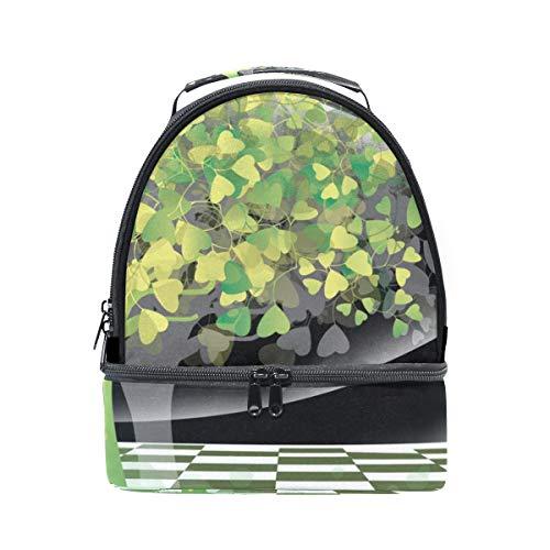 Lunchtasche mit abstraktem Baum und Herzblättern