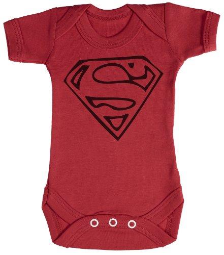 TRS - Super Man Regalo para bebé, Body para bebé niño, Body para bebé niña 0-3M Rojo