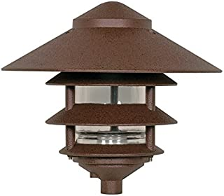 Nuvo Lighting SF76/637 One Light Three Louver Large Hood 120 Volt Die Cast Aluminum Durable Outdoor Landscape Pathway Lighting, Old Bronze by Nuvo