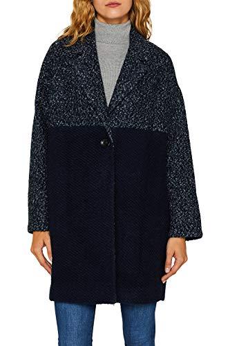 ESPRIT Damen 099Ee1G009 Mantel, 404/NAVY 5, Medium (Herstellergröße: M)
