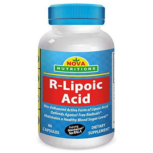 Nova Nutritions R-Lipoic Acid 100 mg 60 Capsules