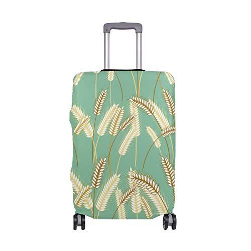 Reisegepäckschutz für Pflanzen, Gerstengras, Koffer, Gepäckabdeckung, Spandex, für Erwachsene, Damen, Herren, Teenager, passend für 45,7–50,8 cm