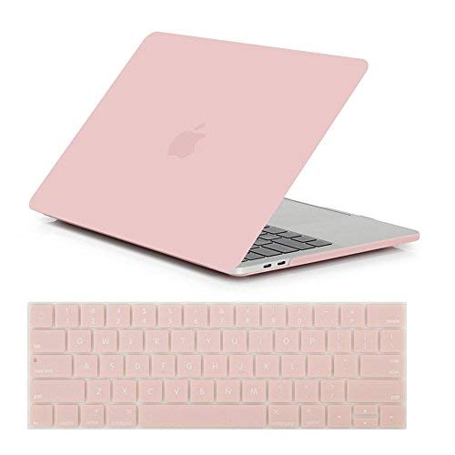Se7enline 2016/2017/2018/2019 MacBook Pro Case Smooth Plastic Hard Cover for MacBook Pro 13 inch A1706/A1989/A2159 with/Without Touch Bar Touch ID with Keyboard Cover, Rose Quartz