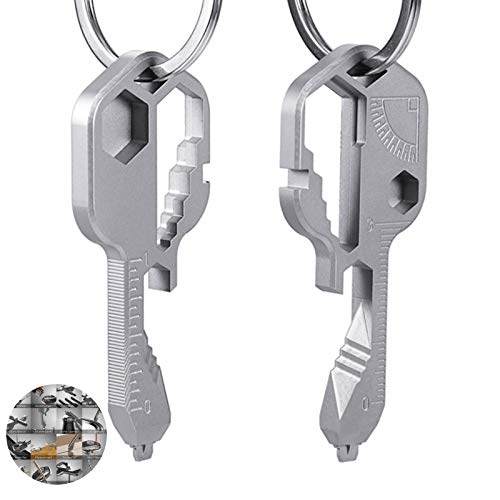 Multi-tool – Key shaped pocket tool for your keychain w/bottle opener,Universal Everyday Carry Pocket and Backpack Tool (2 multi-function keys)