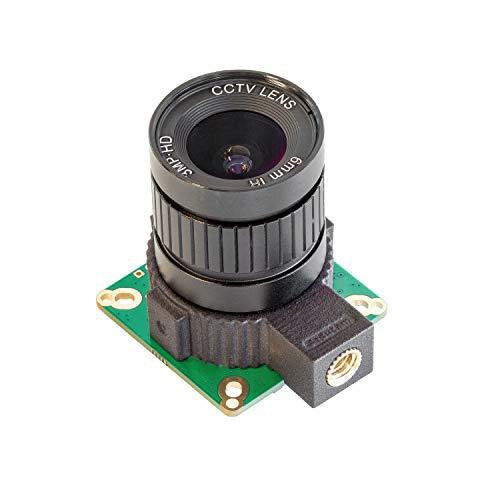 Arducam 12,3 MP IMX477 HQ Kamera-Modul mit 6 mm CS Objektiv und Tipod-Halterung für Nvidia Jetson Nano/Xavier NX und Raspberry Pi Computermodul
